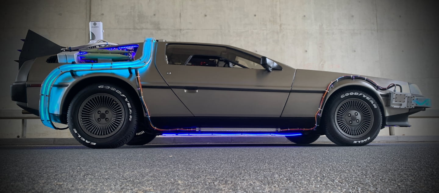 Delorean Time Machine convention hire