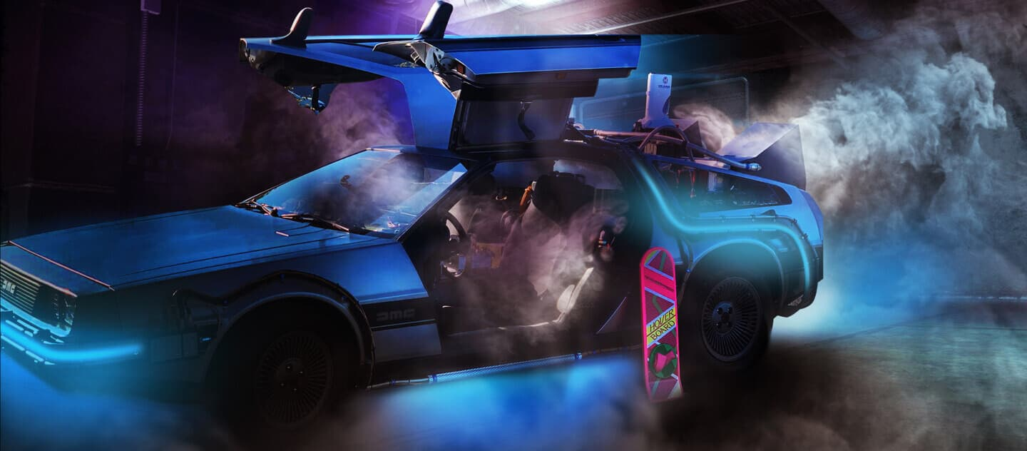 Back To The Future Delorean hire UK Worldwide